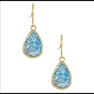 Tear Drop Crystal Blue Earrings NEW!